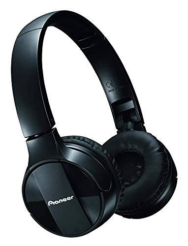 Pioneer Bluetooth Lightweight On Ear Wireless Stereo Headphones , Black SE-MJ553BT(K)