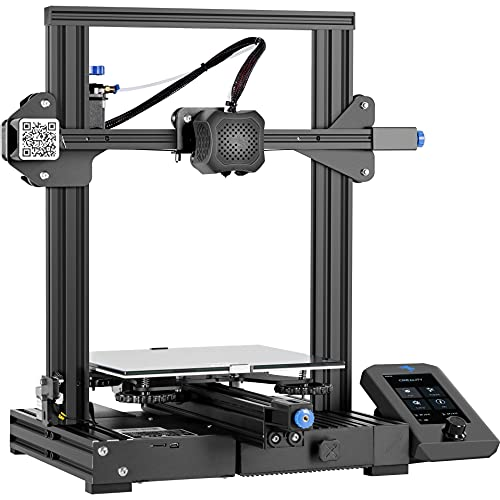 3D Printer Creality Ender-3 V2, 2020 Upgraded 3D Printer with Silent Motherboard, Resume Printing, Convenient Tool Box, New Display