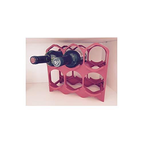 Drinkcase Casiers à Bouteilles Couleur Rouge, Design et empilables