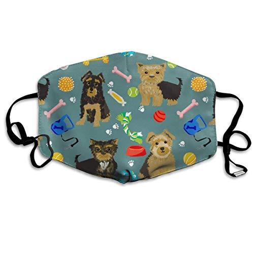 Yorkie Spielzeug, Yorkshire Terrier, Yorkshire Terrier, Niedliche Hunde, Hundespielzeug, Beste Hund Niedliche Hund Designs für Yorkie Besitzer Mundabdeckungen Weiß