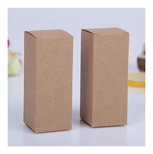 LOOEST 5pcs Pequeño Negro/Blanco/Papel Kraft Caja de cartón, Cajas de Aceites Esenciales de Embalaje, Rectángulo cosmético Botella de Perfume de la Caja de Regalo de Papel Gift