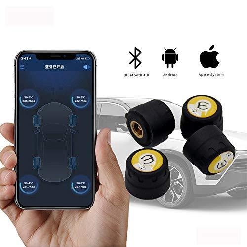 Coche TPMS Sistema De Control De Presión De Neumáticos, Bluetooth Externo Universal Del Sensor De IOS/Android APP Presión De Los Neumáticos De Alarma De Seguridad