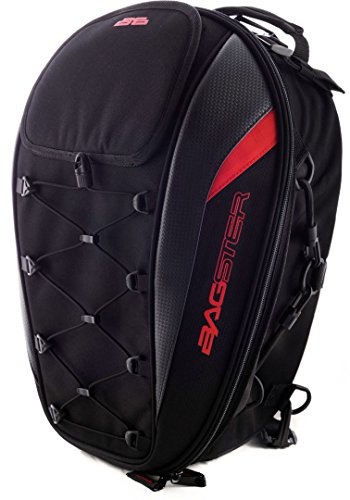 Beindecke 4899R Satteltasche, schwarz/rot