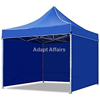 Invezo Impression - 10 x 10 Feet / 3 x 3 Meter (18 kgs - Light Duty Blue with 3 Side Cover) Gazebo Tent, Portable Tent, Foldable Tent - 2 Minute Installation