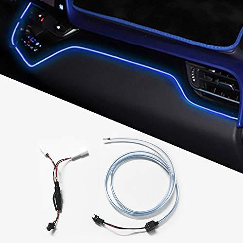 jap768 Instrumento Panel de Ajuste Luz Ambiente for los Toyota CHR 2017 Marco Interior LED Azul del Tablero de Instrumentos del Coche de la lámpara de luz for CHR 2018 2019