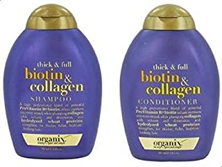 OGX Shampoo Conditioner -Thick And Full Biotin & Collagen -13Oz