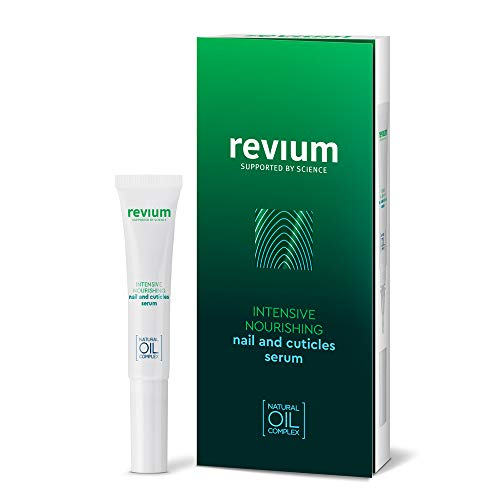Revium Intensive Nourishing Nail And Cuticles Serum, Specialist Care Product With Myrrh, Cotton, Almond, Canola And Wheat Germ Oils, Eriched With Vitamins (A, E, F, and C), Lecithin, 7ml