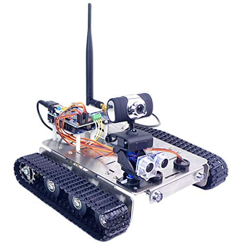 Batop Smart Roboter Kit für Arduino UNO R3, Programmierbar Robot Car mit WiFi, Bluetooth Modul, Line Tracking Modul, Unterstütze iOS und Android APP - Kompatibel mit XR Block, Linux und Arduino IDE