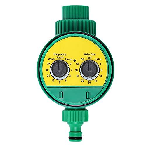 Temporizador de riego Válvula de bola programable del controlador del temporizador Herramientas de riego de rociadores automáticos para g3 /4 hilo grifo Resistente al agua y duradero (Color : Green)