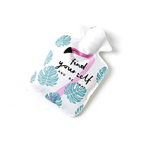 MSYOU Warme Wassertasche mit süßem Buchstaben, Wärmflasche, Handwärmer, tolles Geschenk für Frauen, Mädchen, Kinder, Dunkelrosa