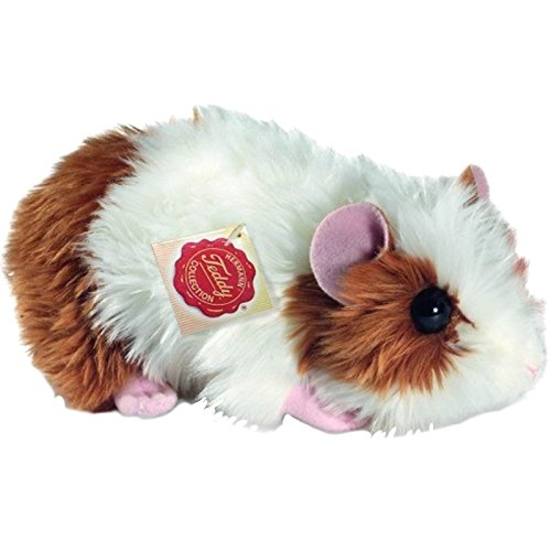 Hermann Teddy Collection 926191 - Plüsch-Meerschweinchen, 18 cm, gold/weiß