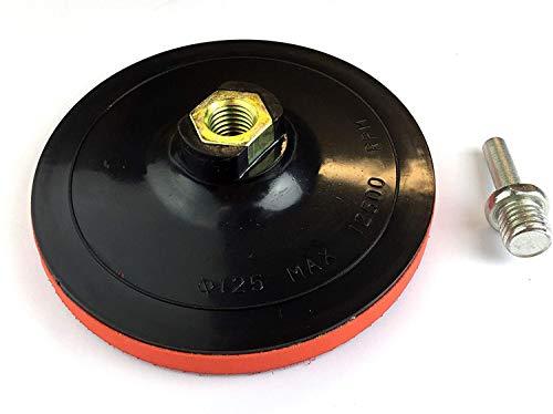 HMH® Schleifteller mit Klett 125 mm M14 inkl. Spanndorn für Bohrmaschine und Winkelschleifer
