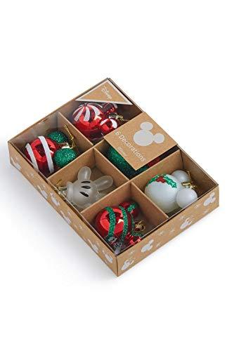 Confezione da 6 palline di Natale con licenza Disney Topolino da appendere