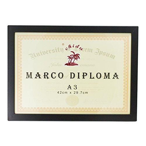 Chidu Marco Negro para Diploma A3 de 29,7 x 42 cm