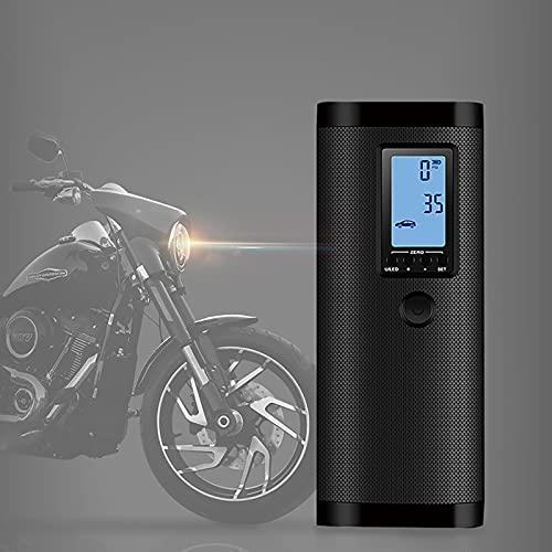 Compresor Aire Coche,Bomba de Aire Portátil, Compresor Aire portatil,Compresor de Batería Digital Portátil con Sensor de Presión, para Scooters, Motocicletas, Bicicletas, Automóviles, Pelotas