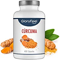 Cúrcuma Turmeric Intensiva de 700 mg con 2,1 mg de Pimienta Negra por cápsula - 400 cápsulas veganas para más de 1 año - Potente antiinflamatorio y antioxidante natural - Máxima calidad