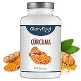 Cúrcuma Turmeric Intensiva de 700 mg con 2,1 mg de Pimienta Negra por cápsula - 400 cápsulas veganas para más de 1 año -...