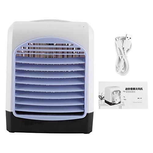 Ventilador de enfriamiento: Enfriador de Aire de Escritorio Multifuncional Alimentado por USB, silencioso, Agregar Ventilador de enfriamiento de Agua para la Oficina en casa