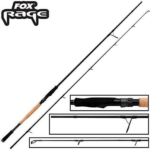 Fox Rage Terminator Big Bait Spin 2,40m 40-160g - Spinnrute für große Gummiköder & Wobbler, Hechtrute zum Spinnfischen, Angelrute