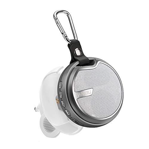 Bluetooth Lautsprecher Fahrrad Tragbarer Bluetooth Speaker Mini Klein Musikbox Sport 5.0 mit Halterung Travel Handy Lautsprecher IPX5 Wasserdicht Kabelloser für Reise Outdoor Campen von Vennerli