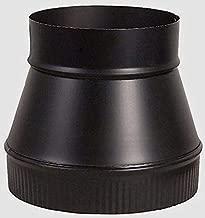 Stove Pipe Increaser Black 24 Gauge Steel 6