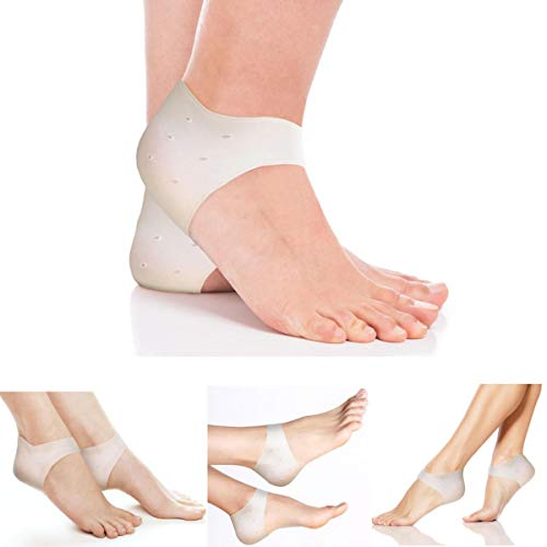 Best Heel Cushion Inserts - 3 PAIRS of Gel Pad Heel Spur Relief Cushions. Inserts for Plantar Fasciitis, Heels Spurs, Achilles Tendon, Foot Support, Blisters, Cracked Skin. For Women and Men. Silicone