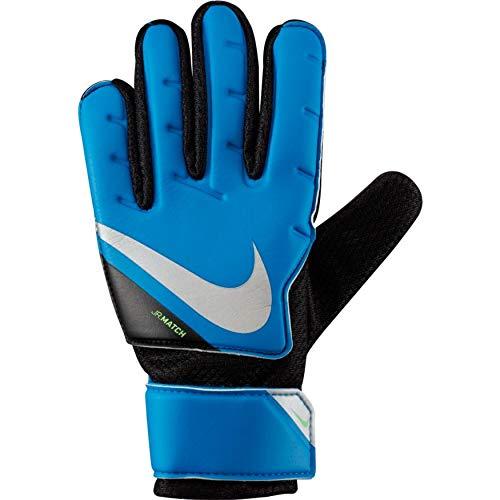Nike Nike Jr. Goalkeeper Match CQ7795 - Guantes de fútbol para niños, Color Azul, Negro y Plateado