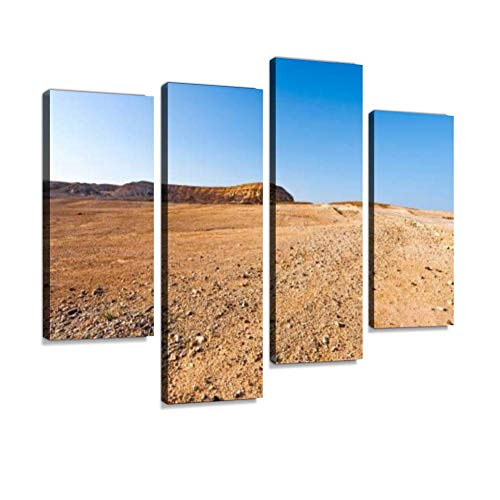 Negev Desert in Israel Canvas Wall Art Hanging Paintings Modern Artwork Abstract Picture Prints Home Decoration Gift Unique Designed Framed 4 Panel