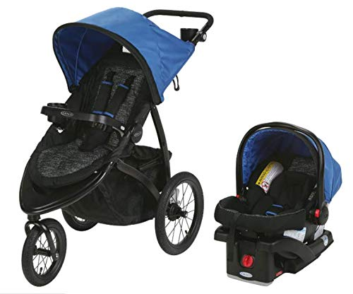 Graco Roadmaster Compact Fold Jogger Travel System Infant Baby Stroller, Blakley