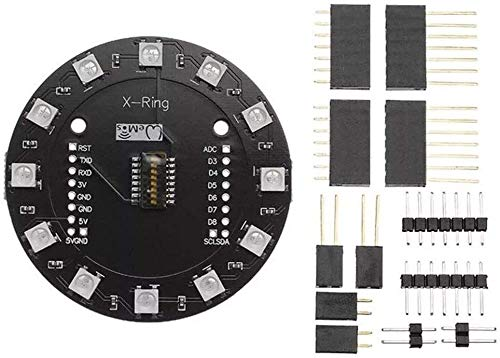 MUKUAI31 X-Ring RGB WS2812b Módulo LED para RGB incorporado LED 12 Módulo LED colorido para WAVGAT ESP8266 RGB Spot Steuermodul DIY