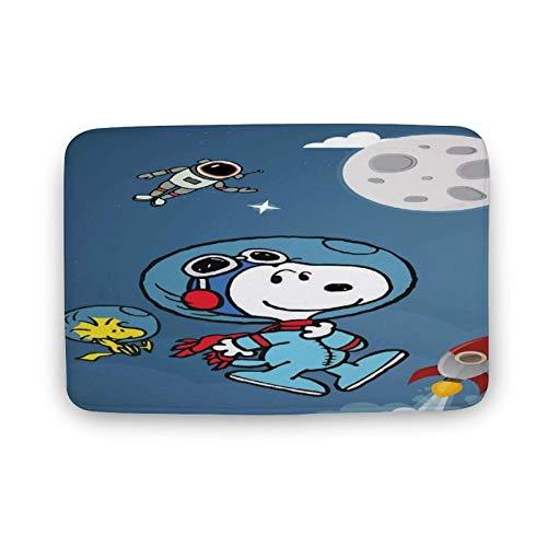 Alfombra de baño Snoopy Alfombra de baño antideslizante con absorción de agua, 20 x 32 pulgadas