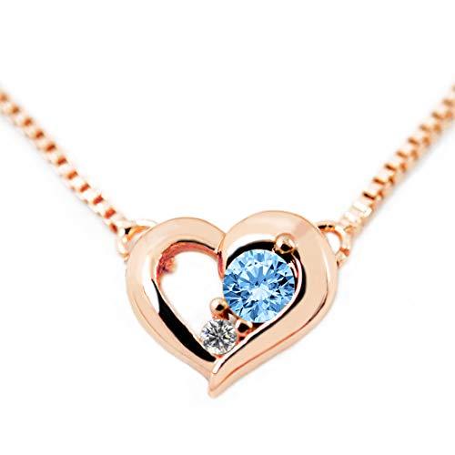 ディズニー ダイヤモンド 24金 ネックレス 誕生石 12月 ミッキー レディース ブランド ピンクゴールド [並行輸入品]