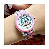 TIDRT Cartoon Silicone Band Printed Doraemon Children Watch Machine Jingle Cat Quartz Watch Boy and Girl Watch As A Gift for Children
