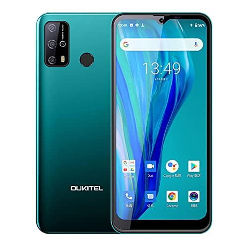 AMAV Smartphone OUKITEL C23 Pro, 4GB + 64GB, 5000mAh, 4G, Pantalla Waterdrop de 6.53 Pulgadas, Cámaras traseras cuádruples de 13MP, Android 10.0 (Verde)