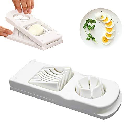 NV 2-in-1-Eierschneider, Universal-Eierschneider, Edelstahl-Schneiddraht, Eierteiler, Küchengeräte können Eier schneiden, zum Schneiden von Eiern, Pilzen usw, weiß