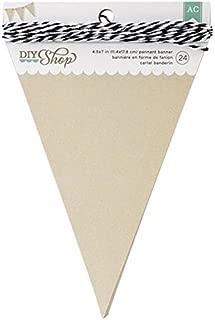American Crafts 366657 24-Piece Pennant DIY Shop Kraft Banner, 4.6 by 6.37-Inch