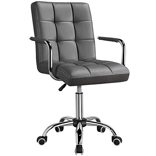Yaheetech Executive Office Chair PU Leather Desk Chair Swivel Large Seat Computer Chair