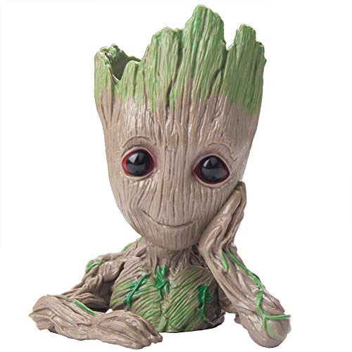 SoB Baby Groot Flowerpot Succulent Planters Flowerpots 6' Decorative Flower Pots Indoor/Outdoor Garden Planters, Unbreakable Indoor Plant Pots with Drainage Gardening Pots Planters & Accessories