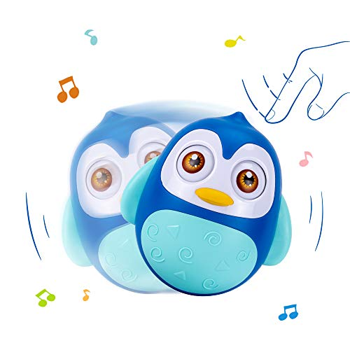 Find Discount UNIH Roly Poly Toy Baby Musical Tumbler Wobbler for 6-12 Months,Infant Toy Penguin A...