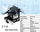 Tavolino lineare precisione manuale,tavolino ottico precisione a 3 assi XYR, tavola scorrevole di regolazione della piattaforma di regolazione del cuscinetto, guida a rulli incrociati 40x60mm