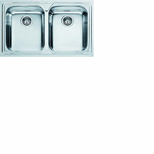 Franke 620-79 Logica LLX 620 – 79 101.0153.289 Edelstahl Spüle Küchenspüle Spültisch Spülbecken Einbauspüle 2 x Becken Textur Seiden,
