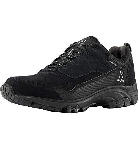 Haglöfs Skuta Low Proof Eco - Zapatillas de Senderismo para Hombre, Impermeables, amortiguadoras, Resistentes a la abrasión, Color Negro, Talla 42 2/3 EU