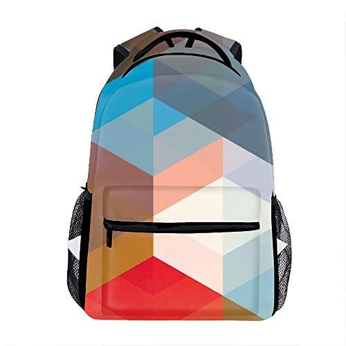 Flowers Line Volume Diamond Print Children Girl School Backpack Shoulder Bookbags