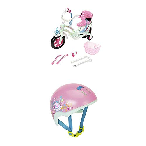 Zapf Creation Baby Born Play&Fun Fahrrad + Play&Fun Fahrradhelm 43cm, rosa, Mint