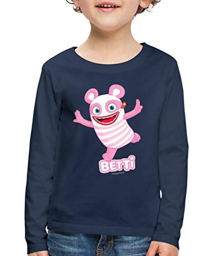 Sorgenfresser Betti Freut Sich Kinder Premium Langarmshirt, 134-140, Navy
