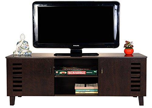 DeckUp Awana TV Stand and Home Entertainment Unit (Dark Wenge, Matte Finish)