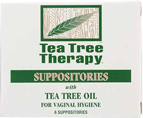 Tea Tree Therapy Vaginal Suppositories with Oil, 6 Count