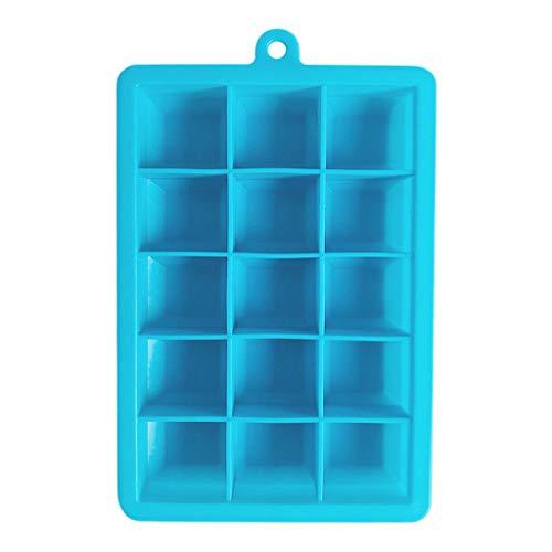 FBGood - Cubitera de silicona flexible para cubitos de hielo, cubiertos pequeños, para bebidas refrigeradas, whisky y cócteles, apilable, lavable en lavavajillas y bandeja de molde