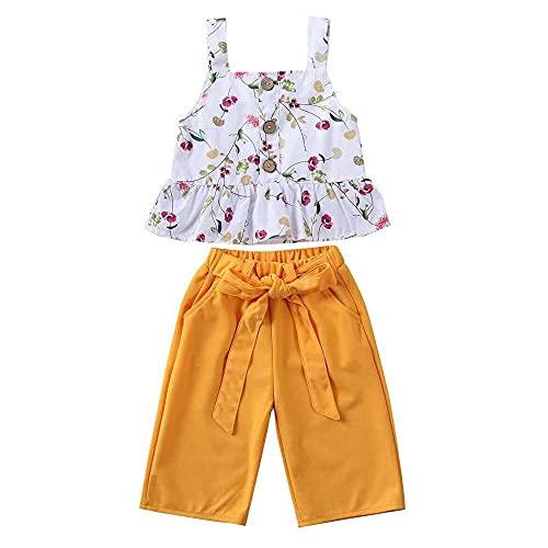 junmo shop Conjunto de 2 piezas de ropa de verano sin mangas para recién nacidos