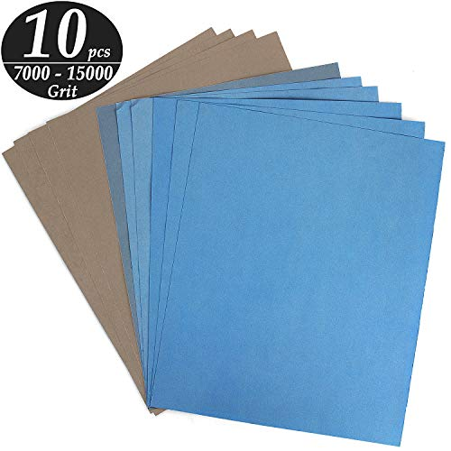Wet or Dry 7000-15000 Grit Super Fine Sandpaper Abrasive Pads for Glass